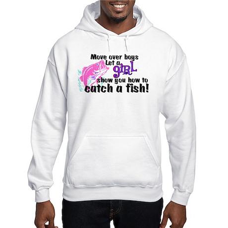 Move Over Boys - Fish Hooded Sweatshirt