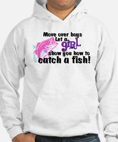 Move Over Boys - Fish Hoodie