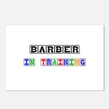Barber In Training Postcards (Package of 8)