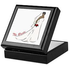 African American Bride Trinket Keepsake Box