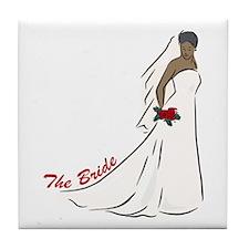 African American Bride Gift Tile Coaster