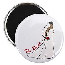 African American Bride Magnet