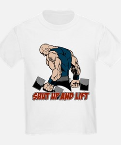 Shut Up and Lift Weightlifter T-Shirt