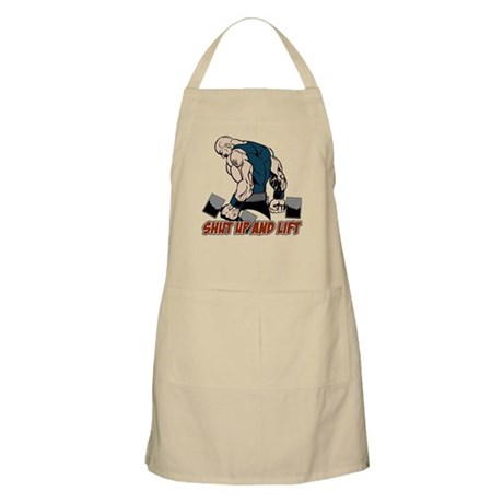 Shut Up and Lift Weightlifter Apron