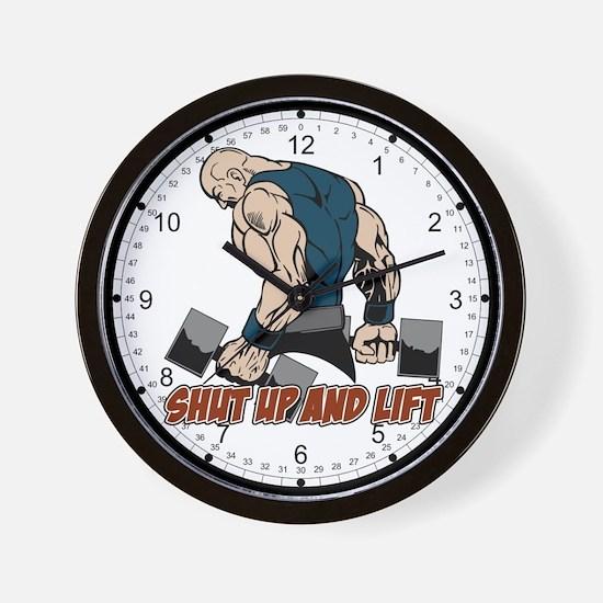 Shut Up and Lift Weightlifter Wall Clock