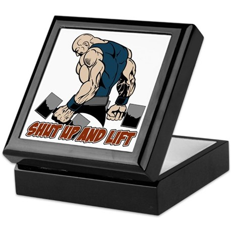 Shut Up and Lift Weightlifter Keepsake Box