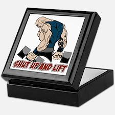 Shut Up and Lift Weightlifter Keepsake Box