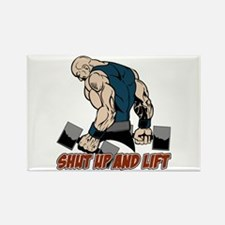 Shut Up and Lift Weight Rectangle Magnet (10 pack)
