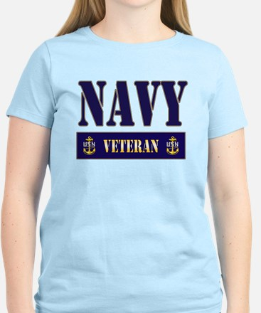 Navy Veteran Block Women's Light T-Shirt