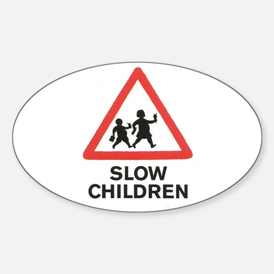 Banksy Slow Children Oval Decal