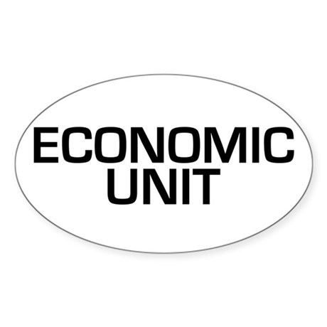 Economic Unit Oval Sticker