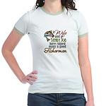 Wife - Steady Job - Fishermen Jr. Ringer T-Shirt