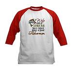 Wife - Steady Job - Fishermen Kids Baseball Jersey