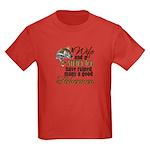 Wife - Steady Job - Fishermen Kids Dark T-Shirt