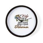 Wife - Steady Job - Fishermen Wall Clock