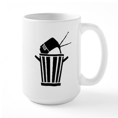 kill your tv Large Mug