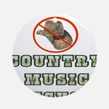 Country Music Sucks! Ornament (Round)