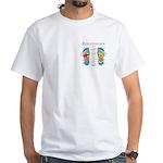 Custom Foot Reflexology Pocket Chart White T-Shirt