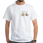 Custom Hand Reflexology Pocket White T-Shirt