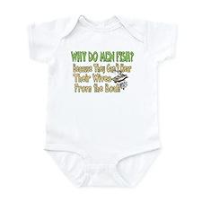 Why Do Men Fish? Infant Bodysuit