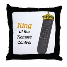 King of the Remote Control Throw Pillow