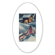 Baby Jesus Oval Decal