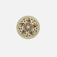 Celtic Star Mini Button