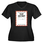Top Secret Women's Plus Size V-Neck Dark T-Shirt