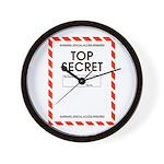Top Secret Wall Clock