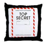 Top Secret Throw Pillow