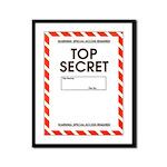 Top Secret Framed Panel Print