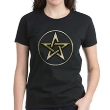 Gold Circle Pentagram Tee