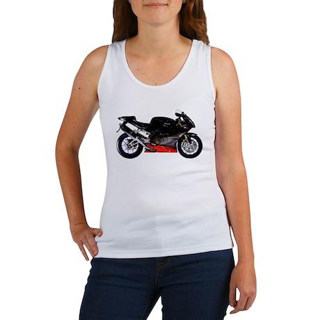 Aprilia RSVR Black #1 Motorbike Women's Tank Top