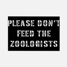 Please don't feed the Zoologi Rectangle Magnet