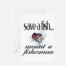 Save a Fish Greeting Card
