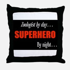 Superhero Zoologist Throw Pillow