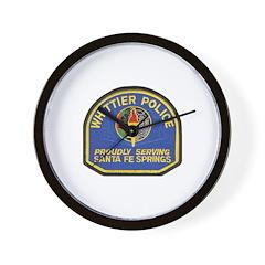 Santa Fe Springs Police Wall Clock