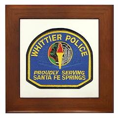 Santa Fe Springs Police Framed Tile