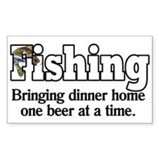 One Beer At A Time Rectangle Decal