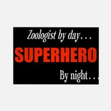 Superhero Zoologist Rectangle Magnet