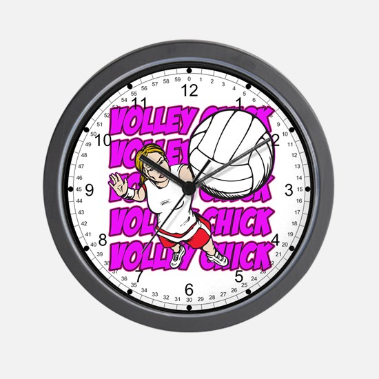 Volley Chick Wall Clock