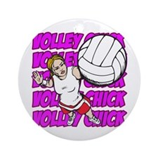 Volley Chick Ornament (Round)