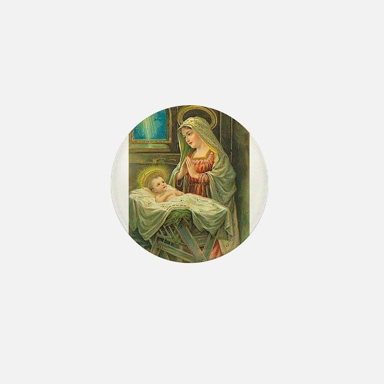 Mary & Jesus Mini Button