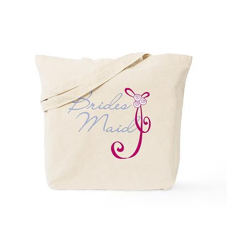 Wedding Ribbon Bridesmaid Tote Bag