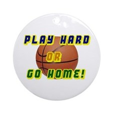 Play Hard Ornament (Round)