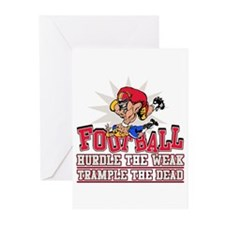 Football Trample Greeting Cards (Pk of 10)