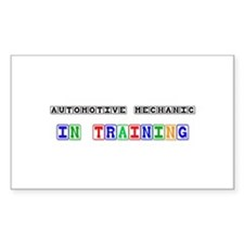 Automotive Mechanic In Training Decal