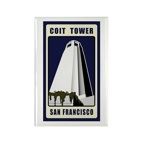Coit Tower Rectangle Magnet