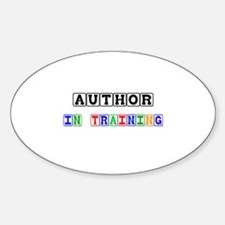 Author In Training Oval Decal