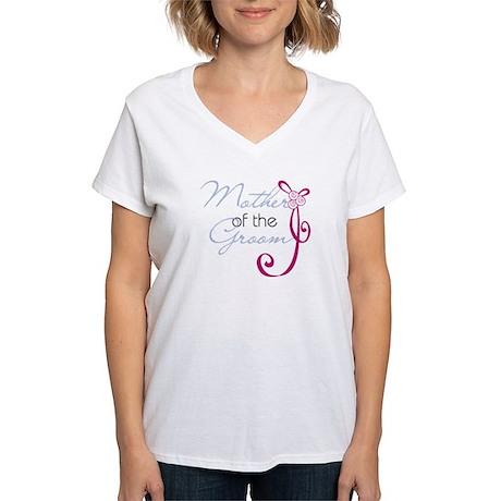 Wedding Ribbon Mother of the Groom Women's V-Neck